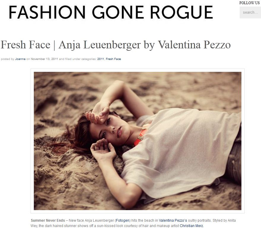 Fashion Gone Rogue Editoriales, Campaas y ms en Fashion Gone Rogue