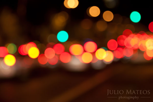 CityLightsII Luces de ciudad. Simulando bokeh